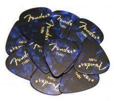 Медиатор Fender 351 Blue Moto, Thin 12pcs